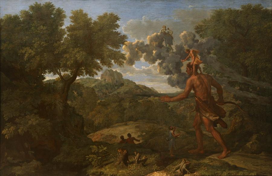 Paysage avec Orion aveugle cherchant le soleil, de Nicolas Poussin (1658).